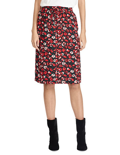 Lauren Ralph Lauren Floral Pocket Skirt-RED-6