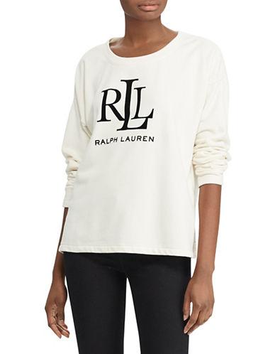 Lauren Ralph Lauren Logo Sweatshirt-NATURAL-X-Large