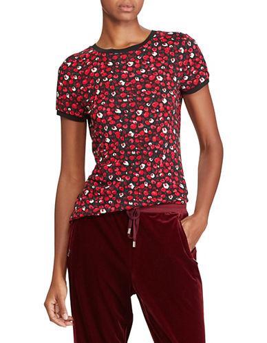Lauren Ralph Lauren Petite Patterned Knit Top-RED-Petite X-Small