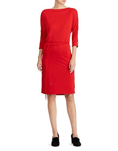Lauren Ralph Lauren Casual Cold Shoulder Dress-RED-Medium