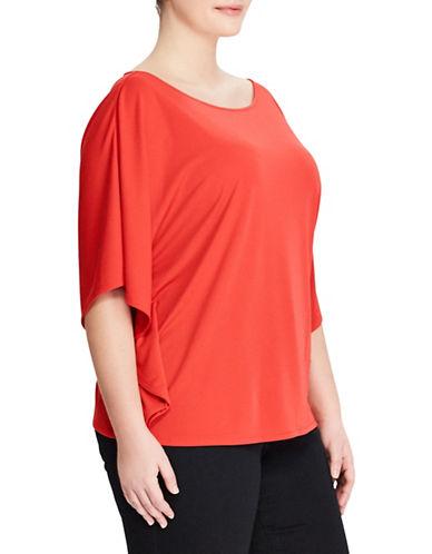 Lauren Ralph Lauren Plus Jersey Dolman-Sleeve Top-TOMATO-2X
