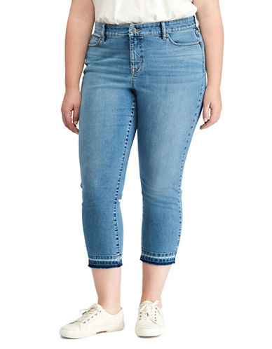 Lauren Ralph Lauren Plus Premier Straight Cropped Jeans-BLUE-18W