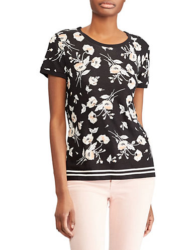 Lauren Ralph Lauren Short-Sleeve Knit Tee-BLACK-Large 89955892_BLACK_Large