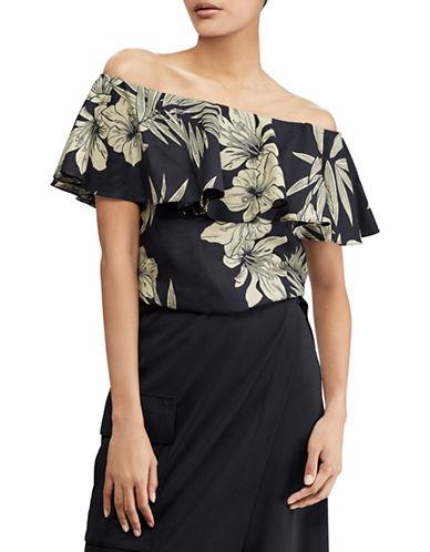 Polo Ralph Lauren Floral Off-The-Shoulder Top-BLACK-Medium 89939567_BLACK_Medium