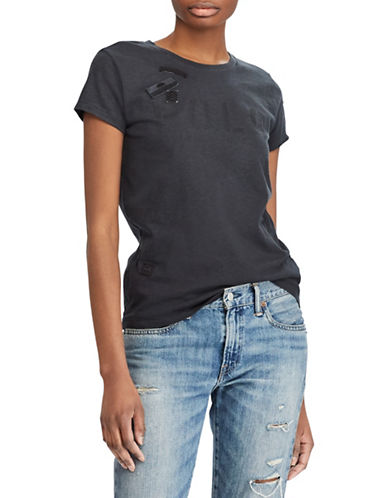 Polo Ralph Lauren Patch Graphic Cotton Tee-BLACK-Large 89939379_BLACK_Large