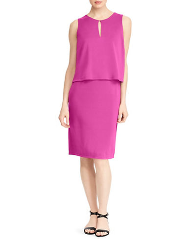 Lauren Ralph Lauren Petite Sleeveless Knee-Length Dress-PURPLE-Petite Medium 90089787_PURPLE_Petite Medium