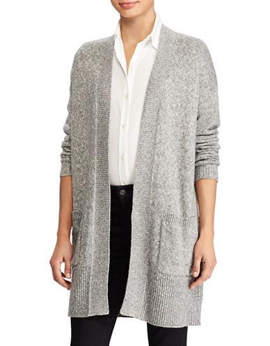 Lauren Ralph Lauren Marled Cotton-Blend Cardigan-GREY-Large 89716789_GREY_Large