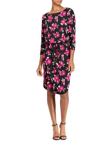 Lauren Ralph Lauren Floral Stretch Jersey Blouson Dress-ASSORTED-X-Small