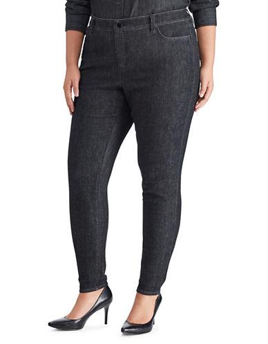 Lauren Ralph Lauren Plus Plus Floral Premier High-Rise Skinny Jeans-BLACK-22W