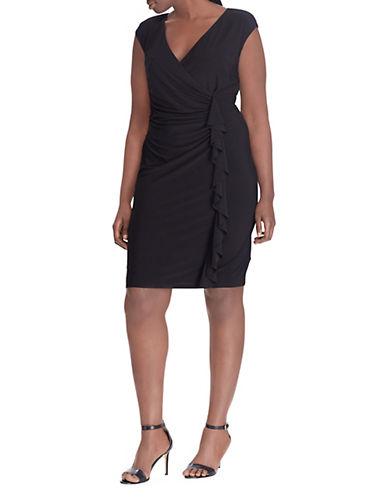Chaps Plus Ruffled Dress 90125802