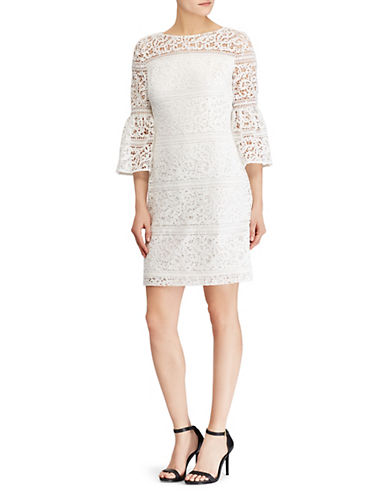 Lauren Ralph Lauren Lace Bell-Sleeve Dress 90019161