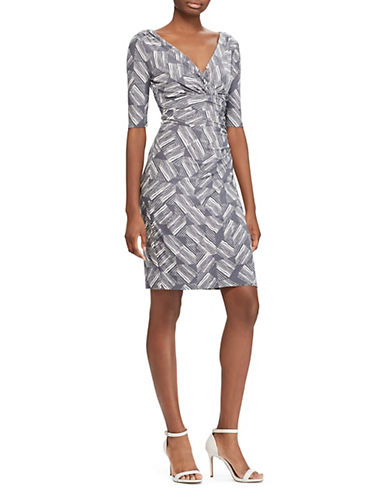 Lauren Ralph Lauren Abstract-Print Jersey Dress-GREY-10 89981008_GREY_10