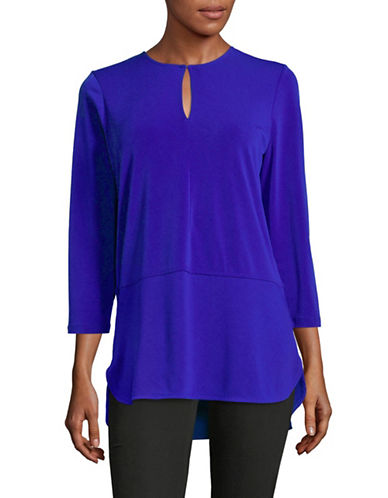 Lauren Ralph Lauren Keyhole Blouse-EMPRESS BLUE-Small