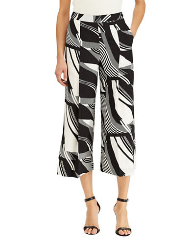 Lauren Ralph Lauren Crepe Wide-Leg Pants-BLACK-10