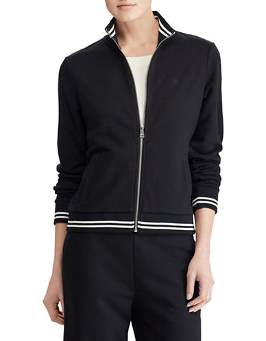 Lauren Ralph Lauren French Terry Jacket-BLACK-X-Small