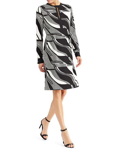 Lauren Ralph Lauren Printed Crepe Knee-Length Dress-ASSORTED-6
