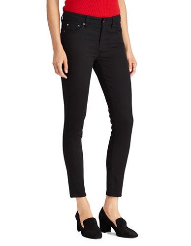 Lauren Ralph Lauren Petite Premier High-Rise Skinny Crop Jeans-BLACK-Petite 8