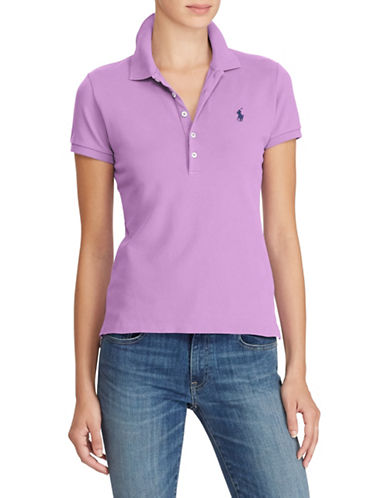 Polo Ralph Lauren Slim Fit Stretch Mesh Polo-PURPLE-Medium