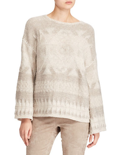 Polo Ralph Lauren Southwestern Merino Sweater-BEIGE-Large