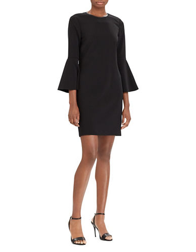 Polo Ralph Lauren Cady Bell-Sleeve Dress-BLACK-12