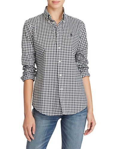 Polo Ralph Lauren Gingham Poplin Shirt-BLACK-2