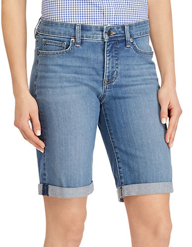 Superstretch Mid Rise Denim Shorts by Lauren Ralph Lauren