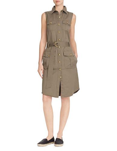 Lauren Ralph Lauren Sleeveless Casual Dress-GREEN-10 90089026_GREEN_10