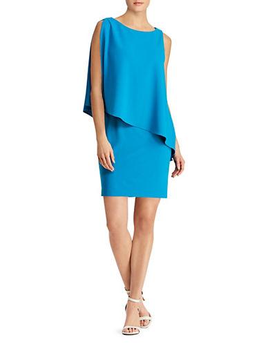 Lauren Ralph Lauren Asymmetrical Crepe Sheath Dress 90019192