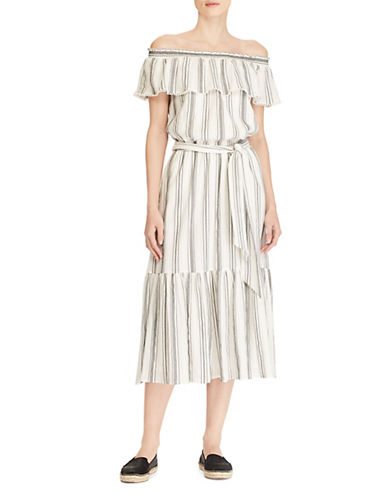 Megara Striped Maxi Dress by Lauren Ralph Lauren