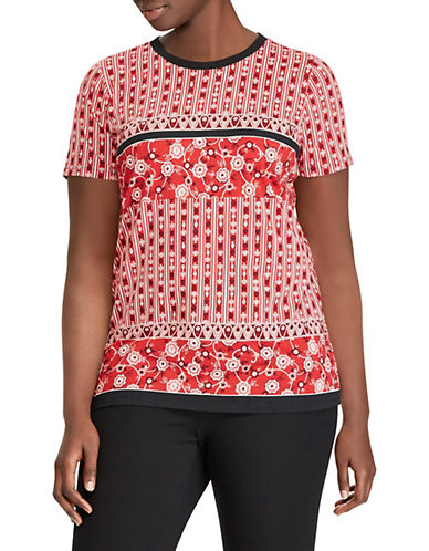 Lauren Ralph Lauren Plus Plus Printed Cotton Top 90171804