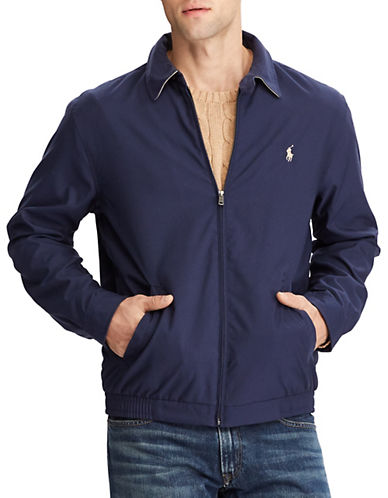 Polo Ralph Lauren Big and Tall Bi Swing Windbreaker-FRENCH NAVY-1X Tall