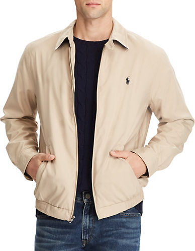 Polo Ralph Lauren Big and Tall Bi Swing Windbreaker-KHAKI-1X Tall