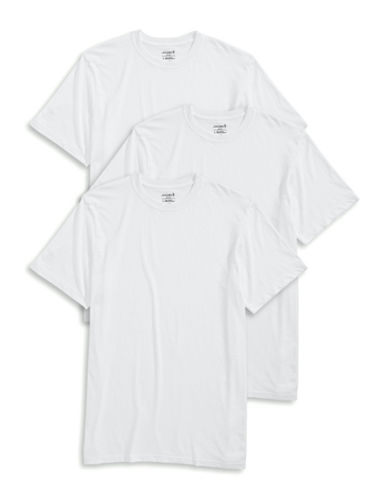 Jockey Three-Pack Crew Neck T-Shirts-WHITE-X-Large