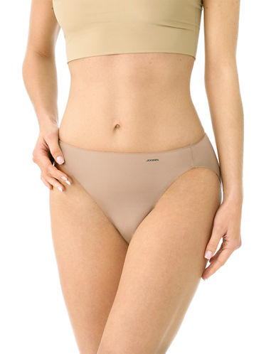 Jockey No Panty Lines Hi-Cut Briefs-LIGHT BEIGE-8