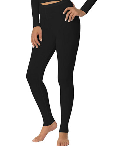 Jockey Moisture-Wicking Thermal Leggings-BLACK-X-Large