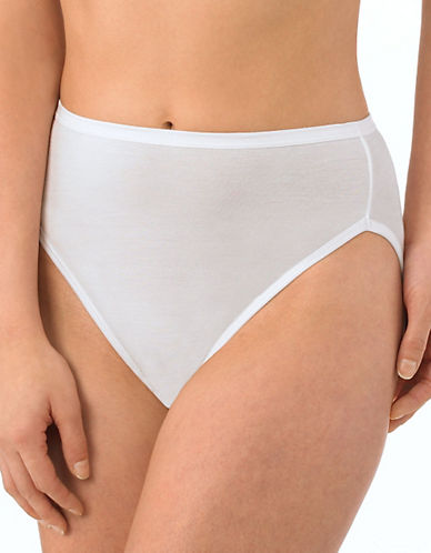 Jockey Elance Supersoft Three-Pack French Cut Panty-WHITE-8