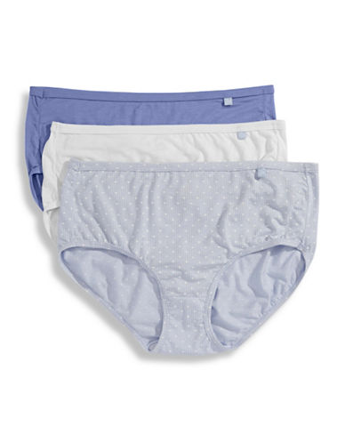 Jockey Three-Pack Classic Cut Briefs-WHITE/BLUE ORION/BLUE DOT-6
