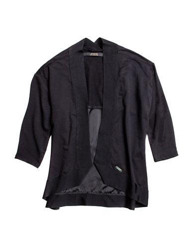 Guess Ribbed Trim Knit Cardigan-BLACK-XX-Large 88776488_BLACK_XX-Large