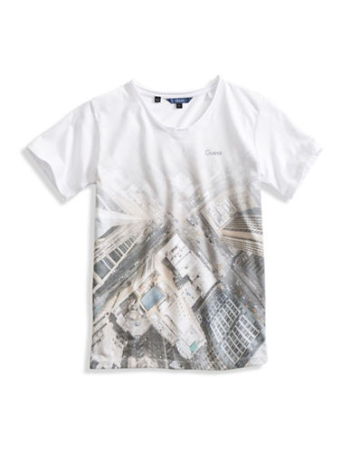 Guess Downtown City Graphic T-Shirt-WHITE-X-Large 88610347_WHITE_X-Large