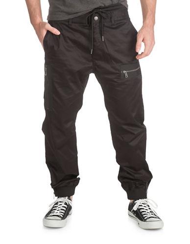 Guess Chintz Twill Flight Sweatpants-BLACK-Small 88559975_BLACK_Small