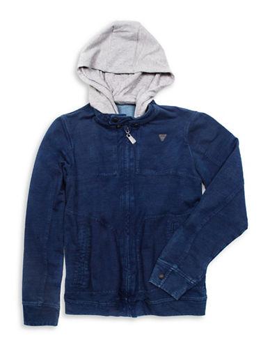 Guess Hooded Denim Jacket-BLUE-Large 88610366_BLUE_Large
