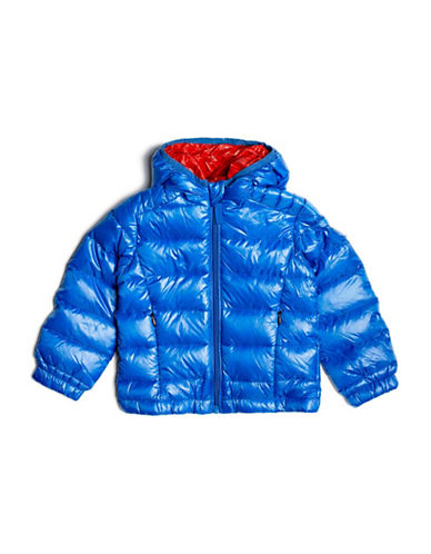Guess Quilted Down Jacket with Hood-ROYAL BLUE-7