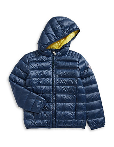 Guess Quilted Down Jacket with Hood-BLUE-2