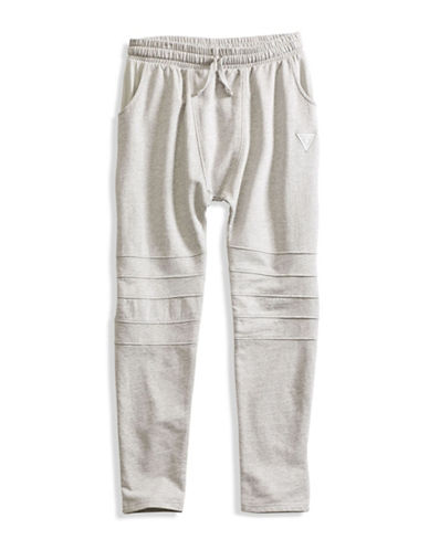 Guess Moto Fleece Sweatpants-GREY-XX-Large 88610353_GREY_XX-Large