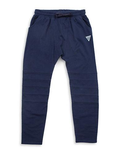 Guess Moto Fleece Sweatpants-NAVY-X-Large 88610357_NAVY_X-Large
