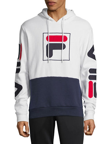Fila Tony Logo Hoodie-WHITE-Medium
