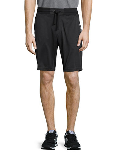 Free Country Heathered Fleece Shorts-BLACK-Medium 89145781_BLACK_Medium