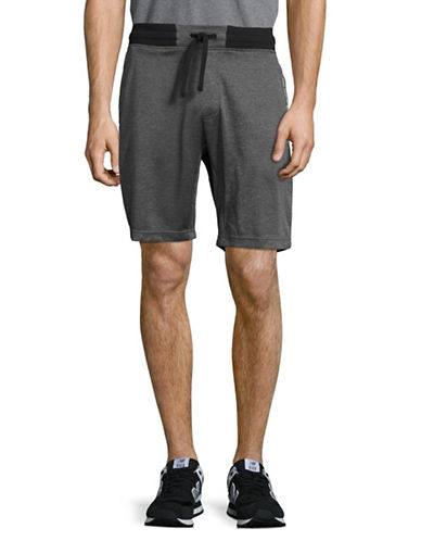 Free Country Heathered Fleece Shorts-GREY-Large