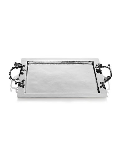 Michael Aram Black Orchid Stainless Steel Serving Tray-BLACK-One Size
