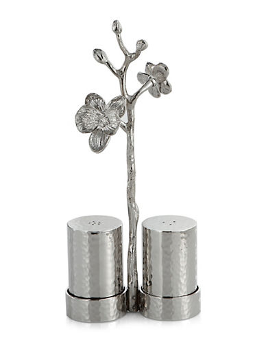 Michael Aram White Orchid Three-Piece Shaker Set-SILVER-One Size